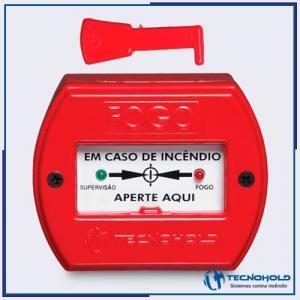 Acionador manual de alarme endereçável